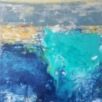 4279933_Ocean Mystery-large abstract ocean water -sunset-painting-blue-green-dark blue-yellow_Twyla_68x87